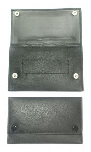 Premium Quality Soft Black Leather Tobacco Pouch